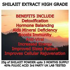 Pure Shilajit Extract 40% Fulvic ACid High Grade VEGAN Himalayan Shilajit UK
