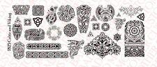 1/18 Scale Custom Tattoos: Viking Celtic pack - Waterslide Decals