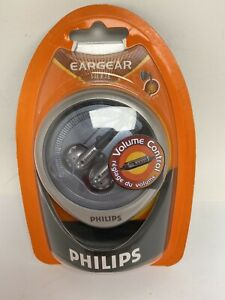 Vintage Philips Eargear HE245 Headphones With Volume Control