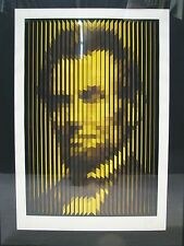 Framed, Signed & Numbered Seriagraph of Abraham Lincoln by Jean Pierre Vaserely