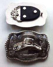 Boucles de ceinture métallique en chrome pour homme