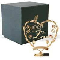 Matashi Crystals 24k Gold Plated Happy Anniversary Table Top Ornament