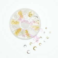 Studs Rivets Alloy Charms Mix Crescent Moon Shape Japanese Style 3D DIY Nail Art
