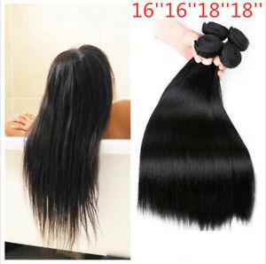 4 Bundles/200G Straight human hair natural color weave Extensions Peruvian hair