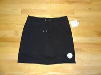 New Croft & Barrow Womens Stretch Knit Skort Skirt w/Shorts Black Medium M 10/12