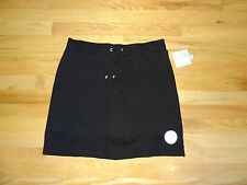 New Croft & Barrow Womens Stretch Knit Skort Skirt w/Shorts Black XL NWT $32