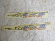 GT  TEAM PRO SERIES  DECALS BMX RACING STICKERS NOS WINGS
