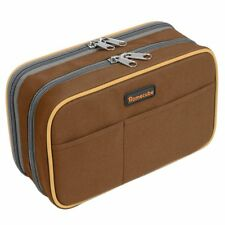 USA 2 Layers Pen Box Makeup Pencil Bag Case Pouch Arts Crafts Storage Organizer
