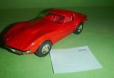 AMT 1970 Corvette MONZA RED 1/25 MODEL CAR MOUNTAIN GREAT SLOT BODY