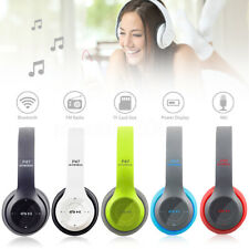 🔥 Over Head bluetooth Headphones Stereo Headset Wireless Foldable Mic Earphones