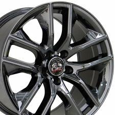 "18"" Fits Ford® 2015 Mustang® GT Style Wheels Black Chrome 18x9 18x10 Set W1x"