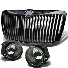 SMOKE LENS OE REPLACE FOG LIGHT+SWITCH+FENCE GRILL GUARD FOR 06-10 CHRYSLER 300C