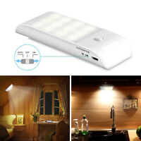 Cabinet Light USB Rechargeable 12 LED Motion Sensor for Cupboard Kitchen Drawer