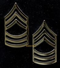 REGULATION US ARMY COMMAND SERGEAT MAJOR E9 GOLD LAPEL HAT PIN CSM UP RANK VET