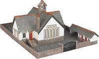 N Scale Village School - N gauge Building kit - Metcalfe PN153