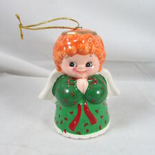 Josef Originals Angel Bell Ornament Christmas Holiday Figural Korea Ceramic Old