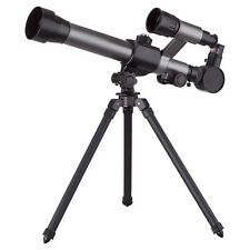 AmScope-Kids 20X-40X 170mm x 60mm Compact Beginners Tabletop Telescope Portable