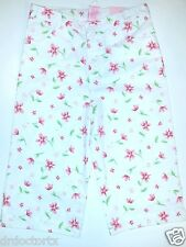 NWT! NEW WITH TAGS COPPER KEY GIRL'S SIZE 6X WHITE FLORAL CAPRI PANTS