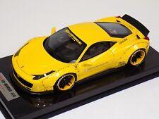 1/18 Ferrari 458 Liberty Walk LB Performance  Yellow Carbon Fiber Base BBR or MR