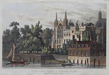 1815 St Stephen's Chapel & Speaker's House Ackermann Antique Aquatint Print