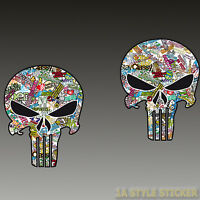 Punisher Aufkleber Sticker Skull DUB style JDM Sticker Shocker Stickerbomb d23