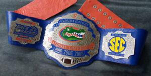 Florida Gators Championship Belt National Champions 1996 2006 2008 University F