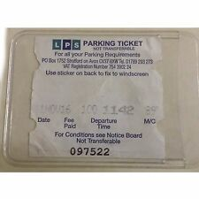 2 x Self Adhesive Backed Windscreen Ticket Card Holder Parking Permit 86 X 62mm