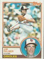 FREE SHIPPING-MINT-1983 Topps #490 Jim Palmer Orioles PLUS BONUS CARDS