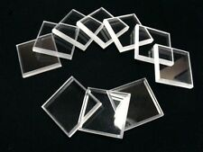 5 Clear Square Mineral Display Bases  2 ""