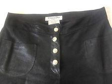 """AUTH. CHRISTIAN DIOR BOUTIQUE PARIS Black Leather Pants. Sz 8. Waist 30.0"""""""