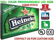 """Digital Open Neon Led Signs 12"""" x 76"""" Full Color 10Mm Shop Store Text Display"""