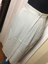 vintage emporio armani pencil wrap skirt  sz 42 made in italy tan with pockets