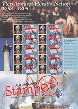 2005 AUTUMN STAMPEX COMMEMORATIVE SMILER SHEET - TRAFALGAR/NELSON-fine used