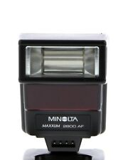 Minolta Maxxum 2800 AF Flash w/ Inst. -Case- Shoe Adapter-Wide Panel - Tested