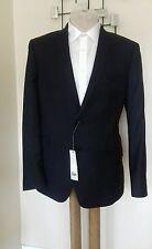 Charcoal Grey Riley Micro Check Slim Jacket By Kin At John Lewis BNWT 40 Regular