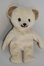 "Lever Brothers SNUGGLE Teddy BEAR 8"" Cream Plush Stuffed Bean Bag 1999 Soft Toy"