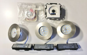 3 LED-Einbaustrahler mit Dimmer