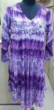 5 Piece Multi Colour Tie Dye Embroidered Rayon Viscose Rayon Long Sleeves Dress