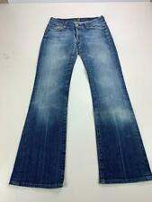 WOMENS ALL FOR MANKIND BLUE WASH DENIM JEAN BOOTCUT STRETCH DENIM SIZE 8 W27 L30