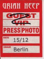 URIAH HEEP Unused Guest Pass Berlin 15.12.2009