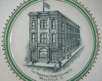 Antique 1900's Plate~Perpetual Savings Wellsville, OH Homer Laughlin East Liverp
