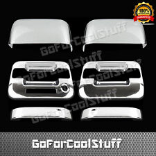 For Ford F-150 Xlt/Fx4 04-08 2Drs handle W/o Pskh+Tophalf Mirror Chrome Covers