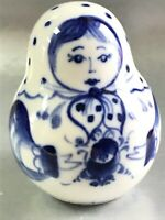 Matryoshka Porcelain figurine Gzhel Russian folk doll