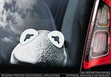 Kermit the Frog - Car Window Sticker - Muppet Show Peeper Sign Art Print Gift