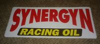 "SYNERGYN RACING OIL STICKER NASCAR NHRA DRAG CAR RACING * 9 x 4"" VINTAGE GARAGE"