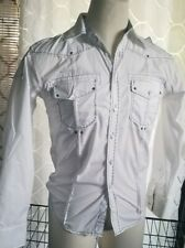 Franky max shirt dress mens size Small long Sleeve Color White Packets Bottoms