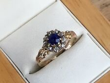 Antique/Vintage 18ct Rose Gold Sapphire And Diamond Ring, Size M