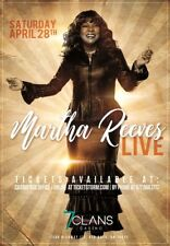 "Martha Reeves 2018 ""Live"" Oklahoma City Concert Tour Poster- Pop, R&B, Vandellas"