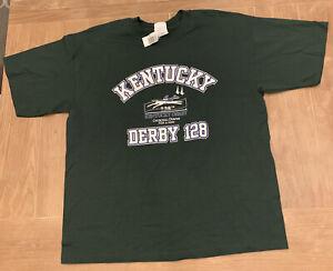 VTG 2002 128th Kentucky Derby Horse Racing Equestrian Shirt Size XL NWT