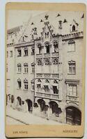 31832CDV Foto De Christian König Nurenberg Um 1870-1880 Antiguo Casa Edificio